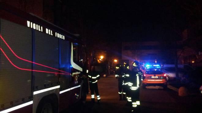 pompieri notte via tentorio
