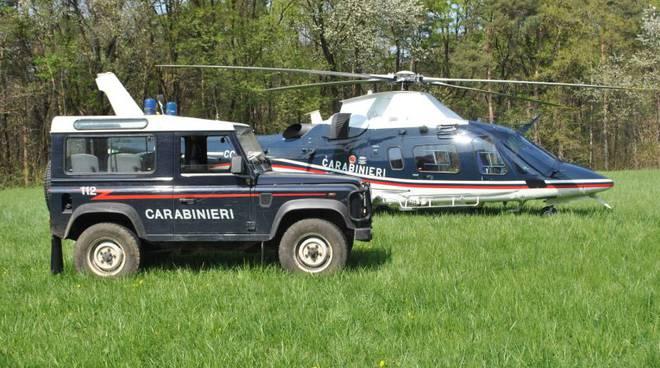 mezzi carabinieri parco pineta