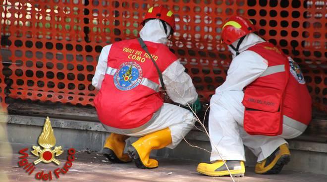 pompieri nbcr como,i controlli per il Cesio