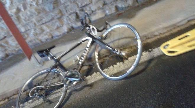 bici danneggiata dopo incidente
