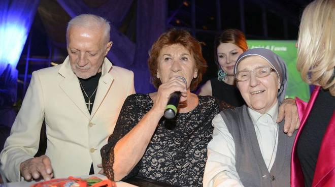 da sinistra Lorenzo Riva,zia Fausta e suor Maura