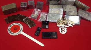 hashish sequestrato carabinieri