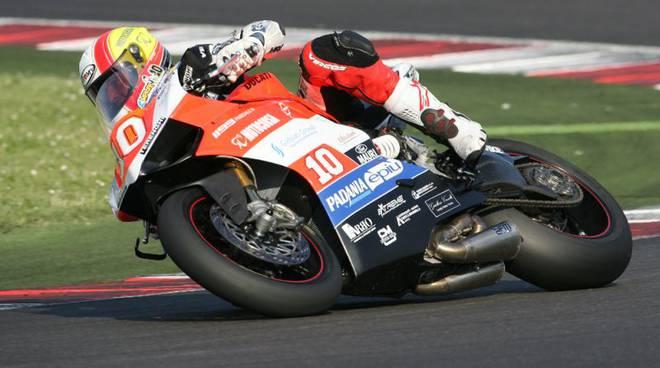 Lorenzo Mauri in pista