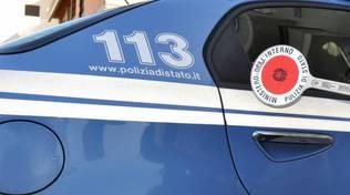 auto polizia e paletta