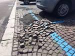 dettaglio porfido parcheggio villa olmo