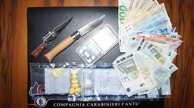 soldi e droga carabinieri cantù