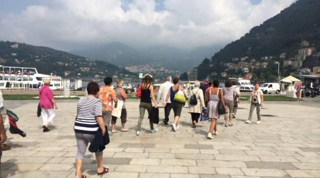 turisti piazza Cavour