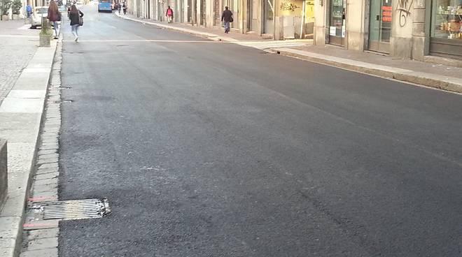 asfalto via Milano