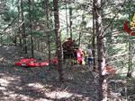 recupero ferito bosco pompieri