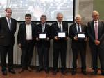 Premiati Edison Volta - Da sin Bruno Lescoeur, Mauro Frangi, Jan Tauber, Jean-Loup Puget, Nazzareno Mandolesi, Christophe Rossel