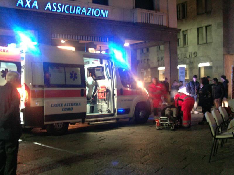 ambulanza sera piazza boldoni como