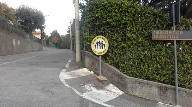 cartello controllo vicinato albavilla