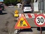 cartello lavori in corso via borgovico