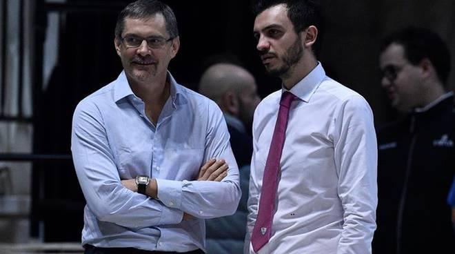 bazarevich e coach brienza a bologna
