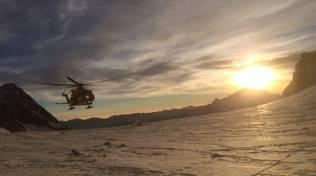 elicottero soccorso alpino valmalenco