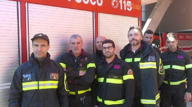 pompieri di como e comandante