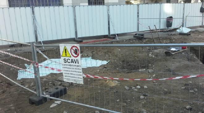 Cantiere scavi piazza grimoldi