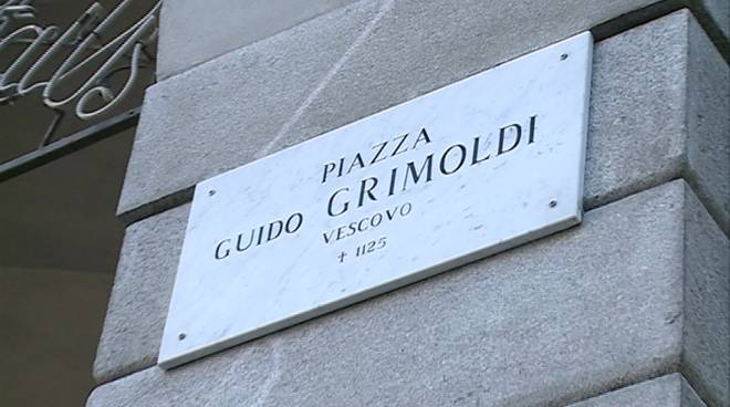 cartello piazza grimoldi como