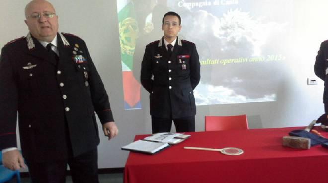 Foto conandante carabinieri como conf stampa
