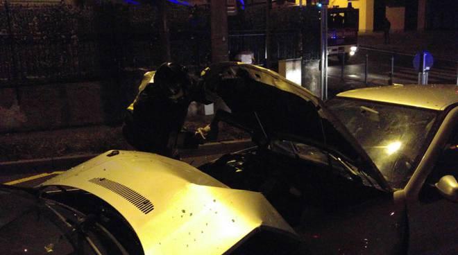 incidente auto notte cavallasca