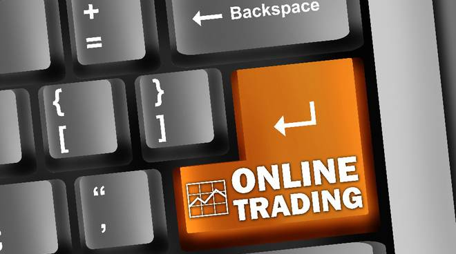 "Keyboard Illustration ""Online Trading"""