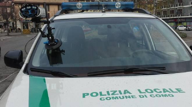 rilevatore targhe polizia locale como