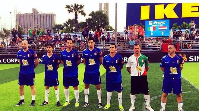 italia calcio a 5 in campo