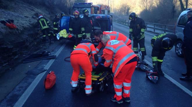 SOCCORSO 118 parroco ferito incidente