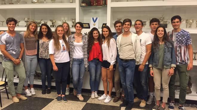 festa per Sara Bertolasi alla Lario