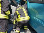 incidente autostrada furgone camion