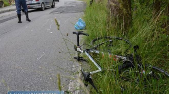 cicloturista caduto bici galbiate