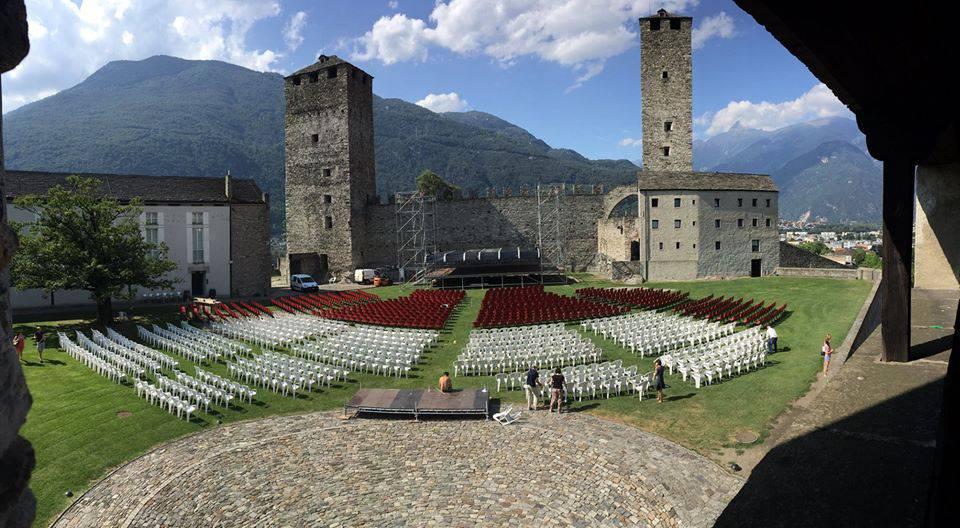 bellinzona castle on air