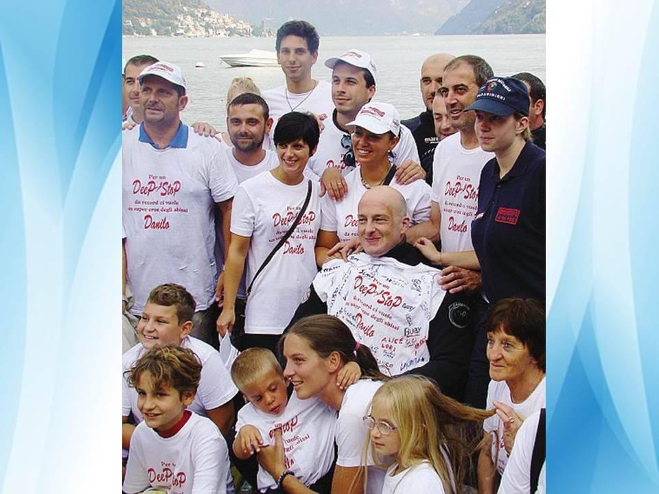 Danilo Bernasconi tenta il record di immersione nel lago
