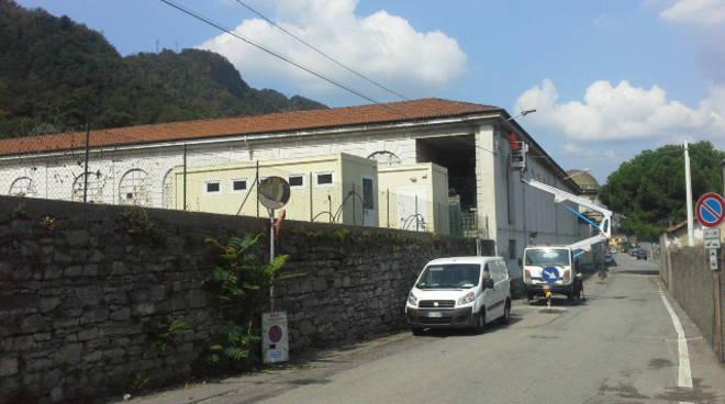 area migranti como san rocco container