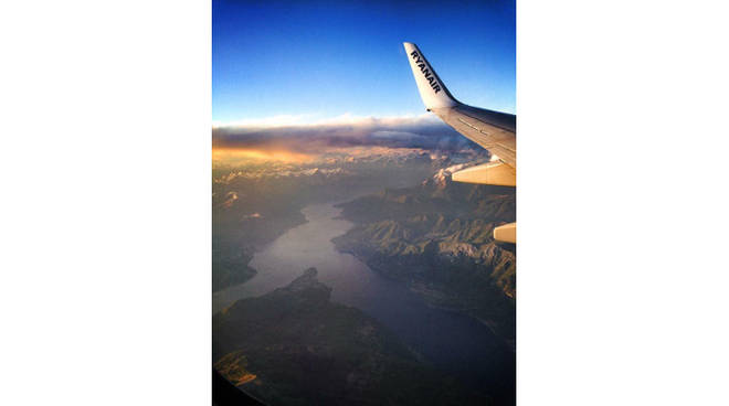 foto notizia lago aereo