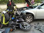 incidente auto-moto rovellasca