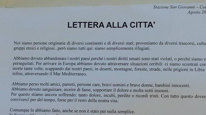 lettera dei migranti in stazione ai comaschi