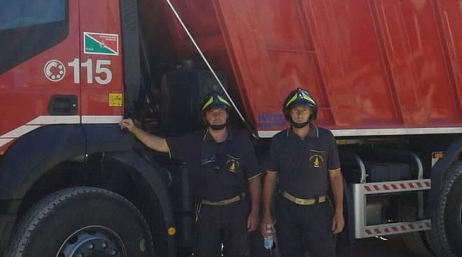 pompieri di como per il terremoto amatrice