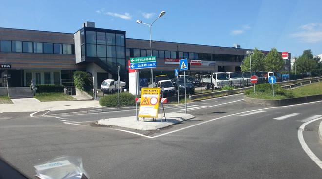 via scalabrini chiusa al traffico