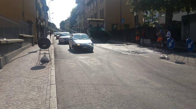lavori asfalto via bellinzona como