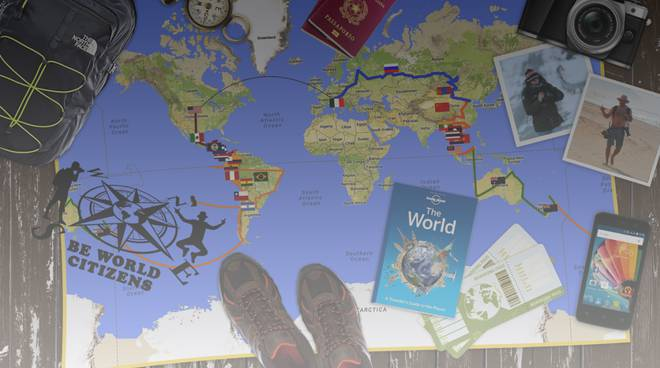 locandina giro del mondo beworld citizens