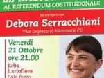 debora serracchiani referendum incontro erba