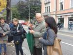 Paratie Como, la visita della delegazione regionale al cantiere