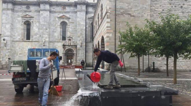 vandali piazza grimoldi como
