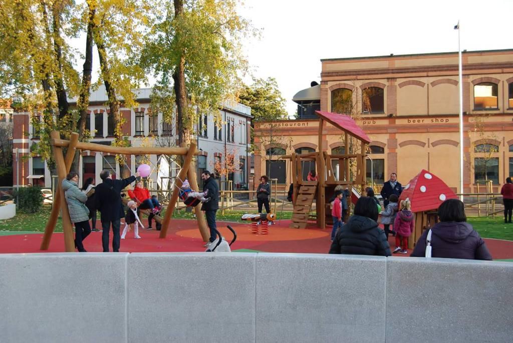 inaugurazione nuova piazza Fisac a camerlata
