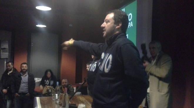 Matteo Salvini al Birrificio di Camerlata