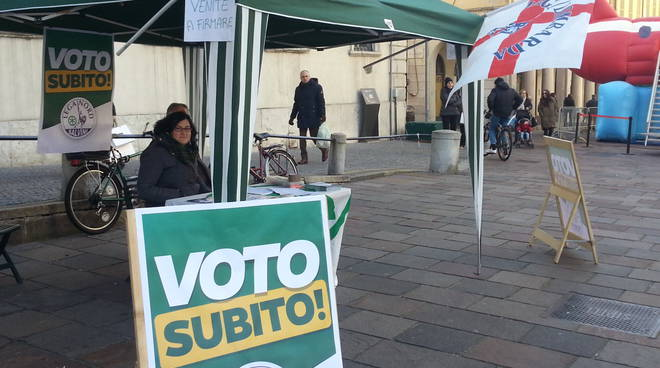 lega nord gazebo per votare