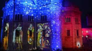 sociale e duomo proiezioni luci balocchi