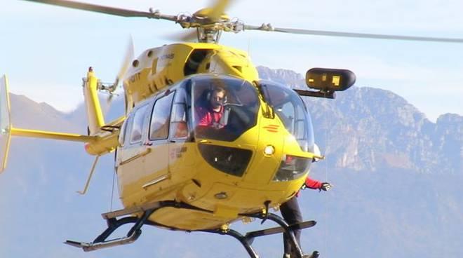 elicottero 118 como partito per terremoto