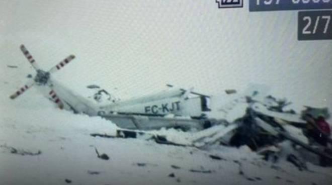 elicottero caduto abruzzo e mario matrella